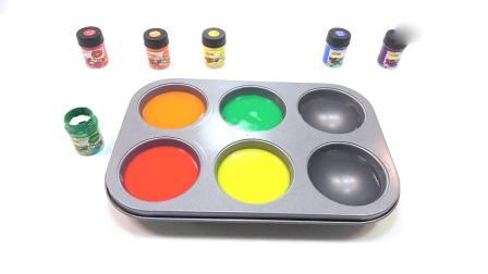 亲子早教动画 彩色颜料水冰激凌变颜色趣味学习英文