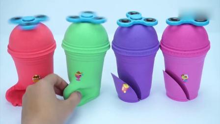 亲子早教动画 儿童DIY太空沙咖啡盒冰淇淋贴纸惊喜玩具