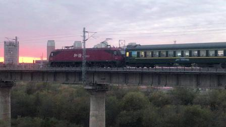 【现货新版】CMR LINE火车模型 1:87 HXD3D和谐电 D3D 电力机车(沈局沈段)+ 百万城HO中国东风4D准高速内燃机车火车模型(哈局三段)