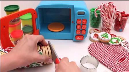 趣味食玩彩泥制作有趣的曲奇饼,烤箱的使用