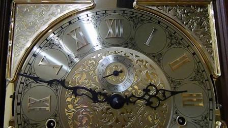赫姆勒落地钟01093精美的罗马字月相钟表盘