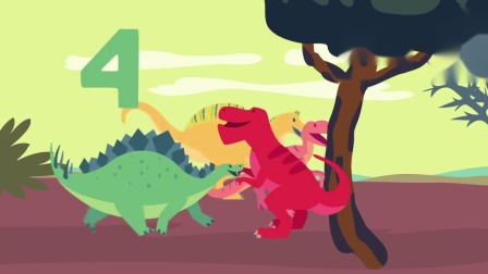 宝宝英语数字歌 31 Dinosaur Song for Kids