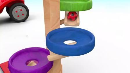 亲子早教动画 儿童玩大型七彩拼盘积木玩具 学会颜色