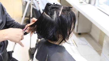 一款适合中年女士的短发修剪技术