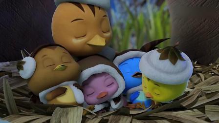 亲子早教动画 萌鸡小队 可爱的雪人我们一起来玩吧