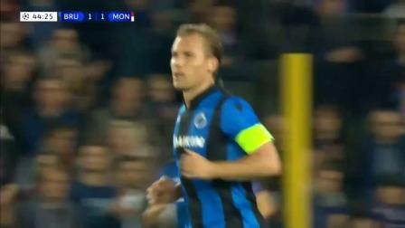 欧冠:穆萨西拉破门约维蒂奇伤退 摩纳哥1-1客平布鲁日