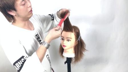今年最流行的八字刘海修剪技巧