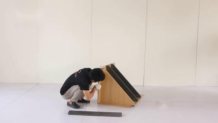 乐品全木拆装收银台转角柜安装视频
