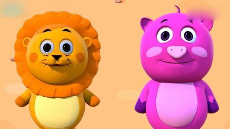 亲子早教动画 大象做的蔬菜冰淇淋小猪狮子都爱吃,学习英语!