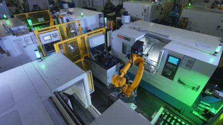 埃斯顿ER系列工作机器人上下料工作站-十字轴车加工