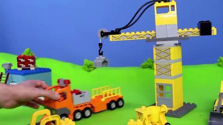 儿童玩具视频挖掘机工程车表演视频大全01