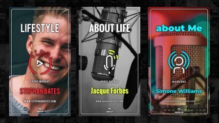 Ae模板 117个手机短视频抖音快手动画图标模板 Instagram Stories Icons