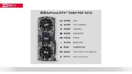 16+4项供电黑恶势力登场!堆料狂魔索泰推出RTX 2080 PGF OC12显卡