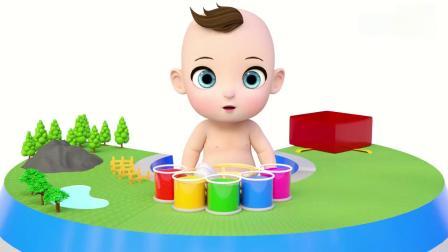 亲子早教动画 萌宝宝把惊喜蛋染色后孵化出小动物学颜色