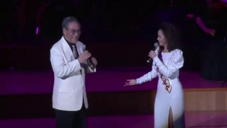 海派小邓丽君~吕雅芬、邓丽君十亿掌声演唱会主持人田文仲先生合唱互动《月亮代表我的心》