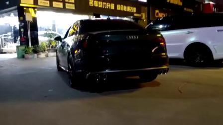 18款 奥迪S4 B9改装CSK前中尾段四出可变阀门排气