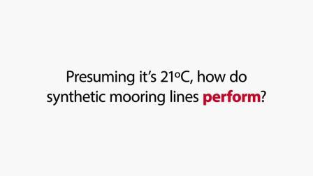帝人芳纶系泊缆 - Mooring line performance compared 21°C 70°F vs. 50°C 122°F