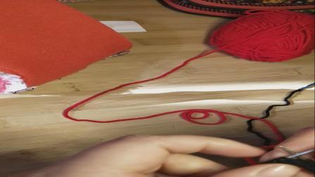 丝丝暖毛线棉鞋双色线六片缝合帮编织视频