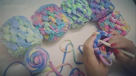 布条线-段染花色收纳篮