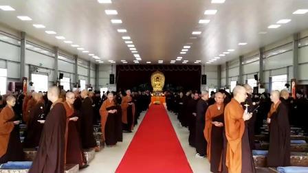 圣宇法师在福建漳浦兴教寺(2018年11月8日至11月22日)打两个佛七(14天)。