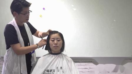 上海托尼盖美发学校 剪发技术 短发视频 海蒂老师