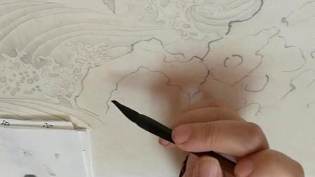 跟乐知轩主(耿老师)学工笔画—乌桕文禽图(3)