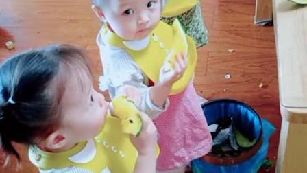 看到二宝的习惯性动作,我就紧张,哈哈!