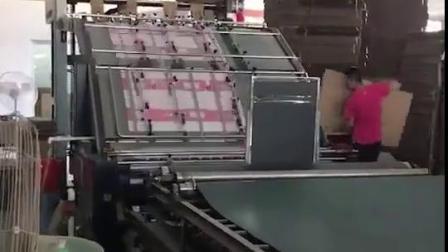 下折纸全自动粘箱机+PE绳全自动捆扎机工作视频