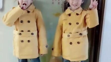三胞胎硕果磊磊穿新衣这鞋子了