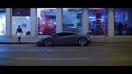 【速度与激情】兰博基尼女郎深夜街头大战AMG GTR,惊动警车追捕!