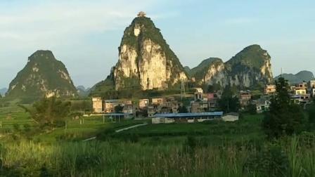 广西河池市宜州区刘三姐故里之乡村景色!