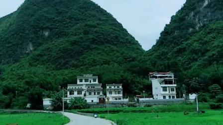 广西河池市宜州区刘三姐故乡之乡村景色!