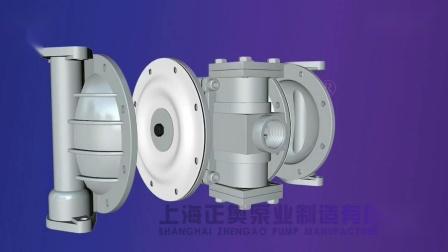 QBY5铝合金气动隔膜泵