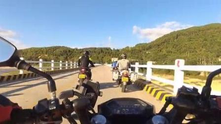 我在深圳摩旅纵横机车会白马村神潭游截了一段小视频