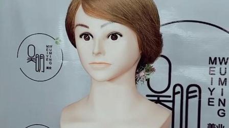 新手学新娘发型,简单二股编发就能很漂亮!#吴明新娘化妆造型培训