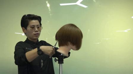 托尼盖美发学校 剪发技术 短发