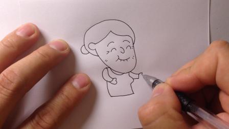 金龙手绘简笔画.卡通人物-老奶奶的画法5