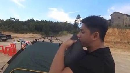 我在白盆珠水库露营截了一段小视频