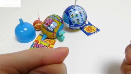 蓝精灵球和粘性的惊喜珍宝珠棒棒糖糖果动物园