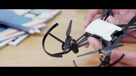 睿炽科技 特洛 Tello 可编程 教育无人机 教学视频 使用桨叶保护罩
