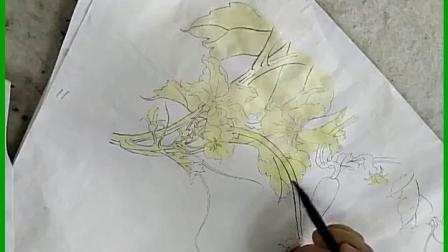跟乐知轩主(耿老师)学工笔画—黄瓜花(1)