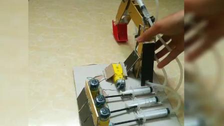 自制遥控挖掘机 DIY 小发明