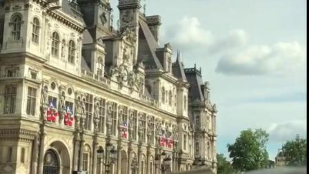 法国·巴黎市政厅大楼位于巴黎圣母院北部塞