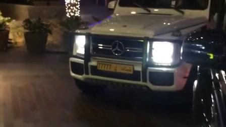 迪拜富豪开的车,车牌:77777