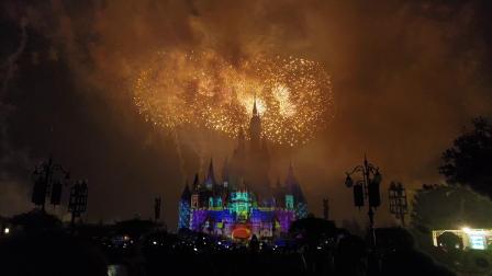 上海迪士尼米奇90岁生日特别版烟花