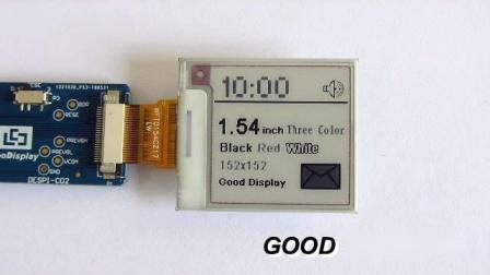 1.54寸三色电子纸显示屏刷新视频