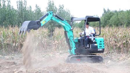 久鼎源25型挖掘机 2.5吨左右的小挖掘机施工视频