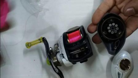 振泽路亚微物轮改装海伯水滴轮杀马特战马改装磁力微抛刹车系统鱼轮改装