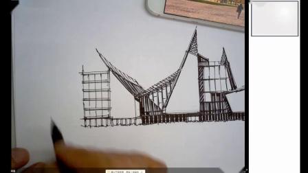 大禹手绘——直线与抖线对比