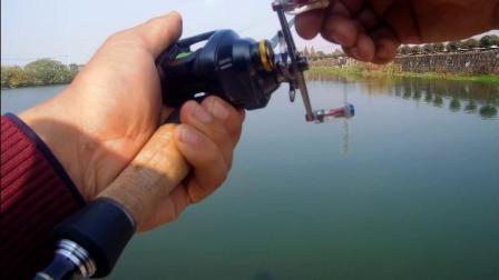 振泽路亚SHIMANO/禧玛诺 水滴轮 CURADO K 离心力刹车路亚用渔轮淡水渔轮磁力改装系统后,抛投测试视频